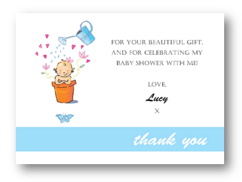 HOW TO SAY THANK YOU FOR BABY SHOWER