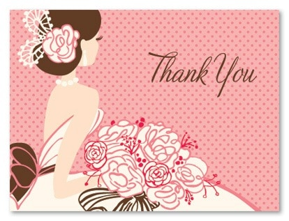 what to write in a thank you card for bridal shower. Black Bedroom Furniture Sets. Home Design Ideas