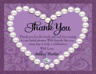 Thank You Samples For Wedding Shower Gifts : Thank You Letter for Bridal Shower
