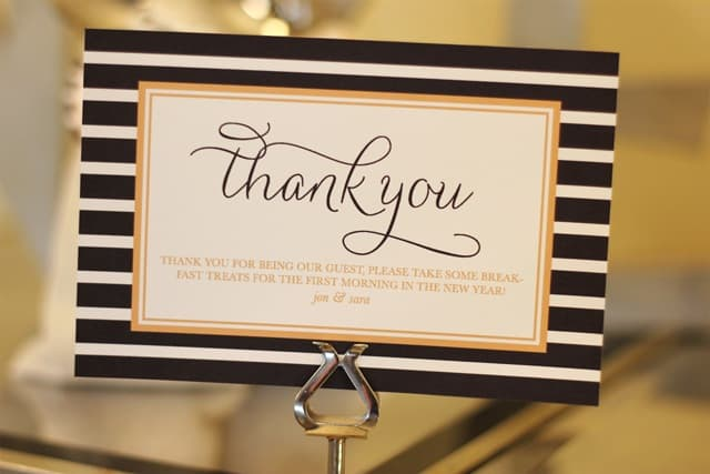 thank you for attending our event