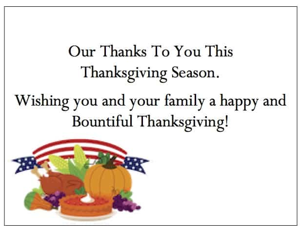 Business thanksgiving cards of appreciation expocarfo Images