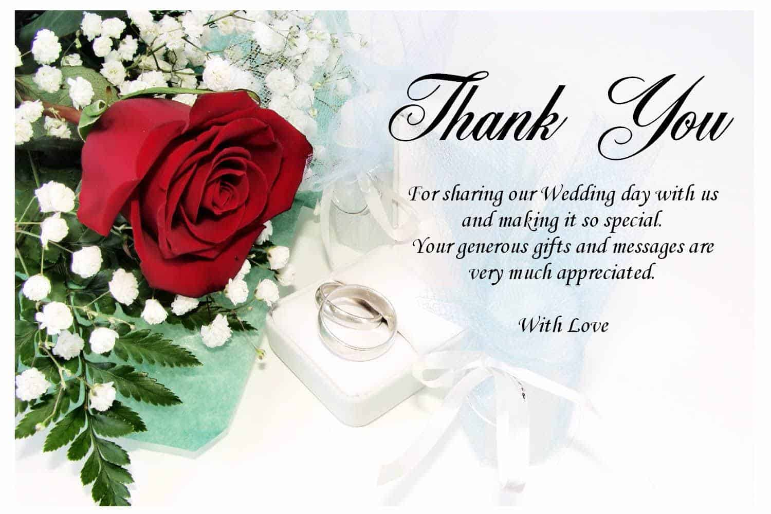 Wedding Gift Card Thank You : Wedding Thank You Gifts And Messages