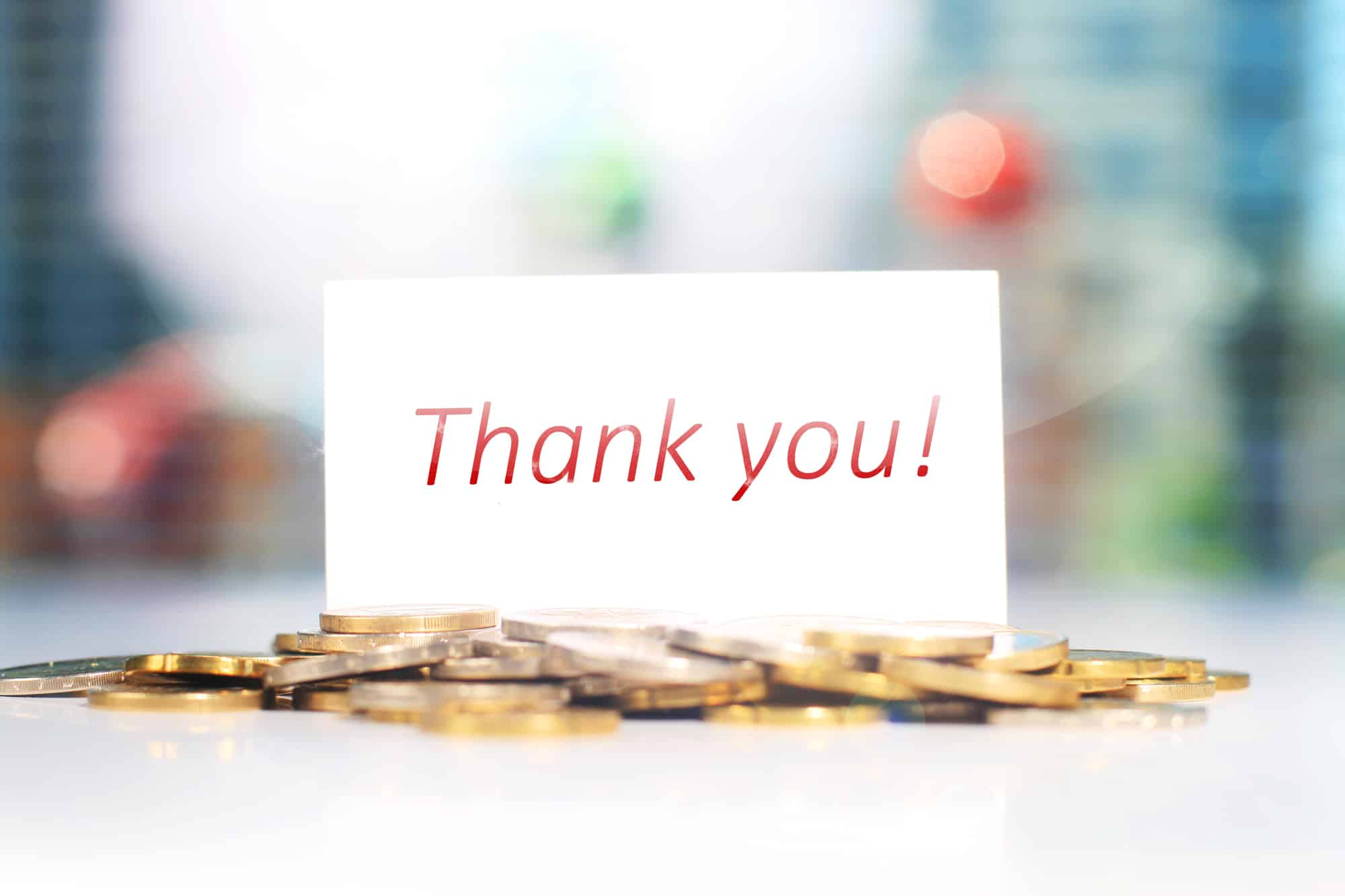 thank you  appreciation card and note for gift money