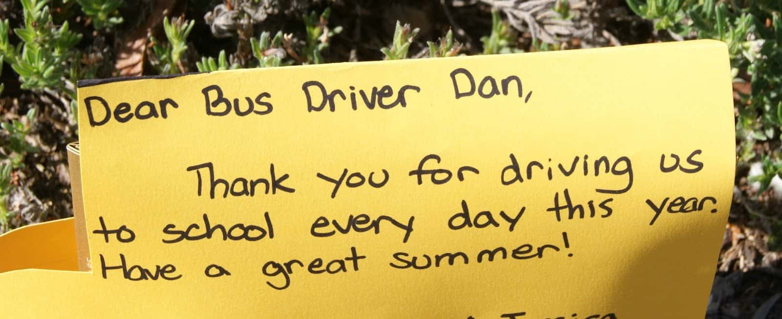 photo relating to Bus Driver Thank You Card Printable called University Bus Driver Appreciation Graude and Encouragement
